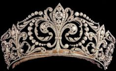 "Fleur de Lys tiara, a diadem exclusively reserved for Queens of Spain the most prominent tiara owned by the Spanish. Aka ""La Buena,"" or ""The Good One"" by the royal family."
