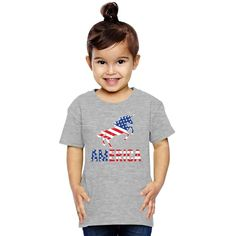 Unicorn American Flag Toddler T-shirt