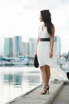 Dress :: Ramy Brook  Shoes :: Jimmy Choo   Bag :: Chanel   Accessories :: Jules Smith choker, MAC 'Violetta' lip color.