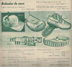 Regalos para el Padre Cazador en 1951