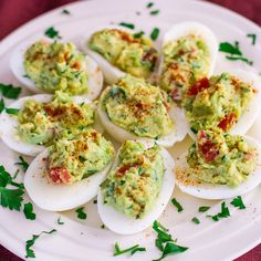 Guacamole Deviled Eggs - perfect for a New Years Eve party or just because!