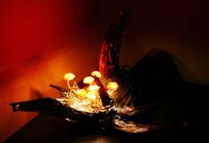 Duża ozdobna nastrojowa lampka led grzybki  w UniQueBags na DaWanda.com