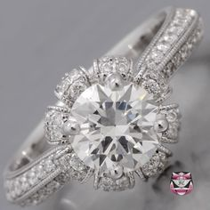 Art Deco Engagement Ring - GIA 1.18ct I/VS Diamond    OMG THIS IS AN AMAZING RING