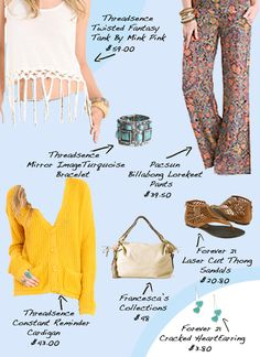 From my daily fashion blog! it's all about lookin' cute and stayin' comfy while rockin' out at Coachella!  #threadsence #coachella