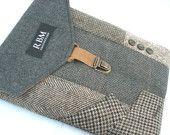 iPad  case, Eco Friendly, Recycled suit coat