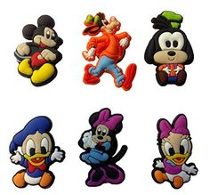 Mickey Mouse and Friends Shoe Charms 6 Pcs Set 3 by Atlantis USA >>> Find out more about the great product at the image link.