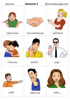 esl gestures - Google Search