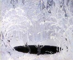 Ferdynand Ruszczyc (Polish, 1870-1936), Winter Tale (Bajka zimowa Winter landscape), 1904, 132x159cm, The National Museum in Kraków.