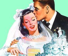 vintage couple illustration - Buscar con Google