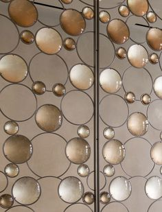 This Artistic Bubble Screen Is Installed In The Lobby Of A Building In New York