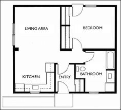 1 bedroom apartment floor plans 500 sf du apartments for House plans with granny suites