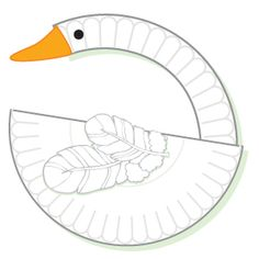 Swan made from paper plate, google eye, feathers, and paper beak. Paper Plate Art, Paper Plate Crafts For Kids, Paper Plates, Paper Crafts, Kindergarten Crafts, Preschool Crafts, Animal Projects, Projects For Kids, Duck Crafts