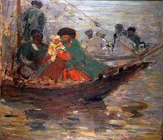 Kalmückenboot auf der Wolga, 1920 Sterl, Robert Hermann| Maler