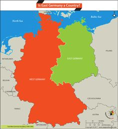 Map Of Divided Germany Berlin Berlin Wall Divided Germany