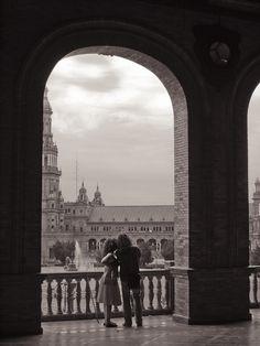 Sunday in Spain Square, Seville.