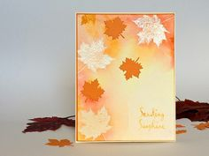 Watercolour Card with Simon Says Stamp Stamptember Set