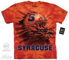 Syracuse University - Syracuse Breakthru Helmet Adult Tee - $27.99   Shop where every purchase helps shelter pets!