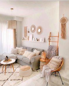 Room Ideas Bedroom, Home Decor Bedroom, Boho Living Room, Living Room Decor, Cozy Room, Living Room Inspiration, Living Room Designs, Interior Design, Boho Stil