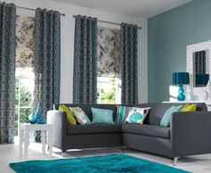 Dream Triadic Color Scheme Room 9 Inspiration Interior Design in teal living room decor - Living Room Decoration Living Room Turquoise, Teal Living Rooms, Living Room Color Schemes, Living Room Green, Living Room Paint, Living Room Colors, New Living Room, Home And Living, Living Room Designs