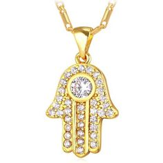 Check out our Hamsa Hand Necklace 18K Gold Plated Fatima Pendant