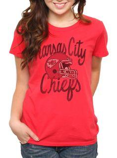 2fbc8b09c NFL Kansas City Chiefs Vintage Kick Off Crew - Junk Food Clothing Football  Gear