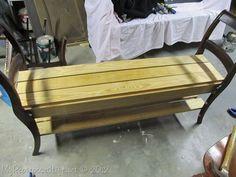 Repurposing/DIY double chair bench (10)