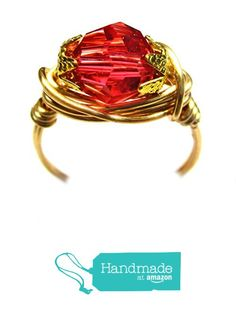 Tropical Pink Genuine Swarovski Faceted Crystal Wire Wrap Ring from Designer Wire Jewelry http://www.amazon.com/dp/B017WO4W46/ref=hnd_sw_r_pi_dp_D-S8wb14A12DT #handmadeatamazon