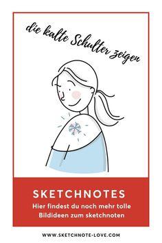 Beim Sketchnoten geht es oft oft darum, um die Ecke herum zu denken und so etwas darzustellen, was man nicht auf dem Bild sieht. Das kann man schnell lernen.  Extra für dich gibt es hier Bildideen, Anleitungen und Vorlagen.    Sketchnotes Kleidung | Sketchnotes  Winter | Sketchnotes Schrift | Sketchnotes Sport | Sketchnotes Einladung | Sketch notes | Sketchnotes Essen | Sketchnotes Sauna | Sketchnotes  Weihnachten | Sketchnotes Sammlung | Sketchnotes Menschen #NadineRoßa  #sketchnotes-love Visual Thinking, Sketch Notes, Simple Doodles, Fictional Characters, Visual Note Taking, Drawing Faces, Doodles, Picture Ideas, Doodle Art Simple