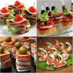 How to make canapés Party Finger Foods, Snacks Für Party, Christmas Appetizers, Christmas Desserts, Snack Recipes, Cooking Recipes, Healthy Recipes, Brunch, Top 5