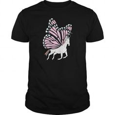 Butterfly Unicorn Outline