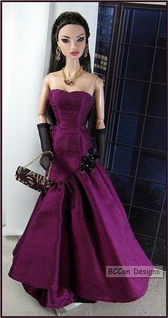 fashion doll, 2008 120eggplantgown2   Flickr - Photo Sharing!
