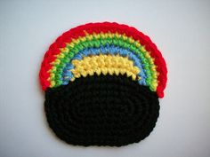 Pot O' Gold Coaster - Free Crochet Pattern