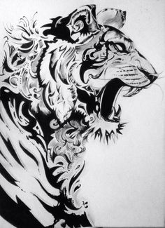 Tiger Lion Tattoo Sleeves, Sleeve Tattoos, Body Art Tattoos, Tattoo Drawings, Tattoo Ink, Arm Tattoo, Hand Tattoos, Tiger Tattoo Design, Tattoo Designs