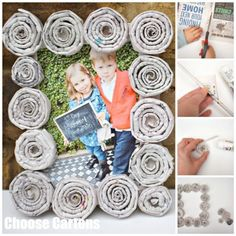 worthy the newspaper can be in world of crafting, we have brought these 71 DIY newspaper craft projects that are more than amazing and creative as in your Newspaper Frame, Newspaper Crafts, Old Newspaper, Newspaper Flowers, Mothers Day Gifts Uk, Gifts For Kids, Frame Crafts, Diy Frame, Make Your Own Newspaper