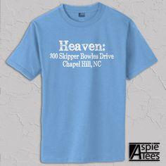 Carolina Basketball Tshirt Dean Dome address ACC by AspieTees, $19.99