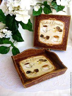 """Вкусняшки-2"" Поднос-сухарница, хлебница, конфетница http://www.livemaster.ru/item/5552241-dlya-doma-interera-vkusnyashki-2-podnos chocolate sweets"