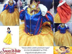 Snow white andre premiuk type  $95 usd sizes 1 to 6 accesories not included   Snow white snowwhite girl costume dress outfit  gown cosplay vestido disfraz blancanieves   I can do adult dresses ask for prices and availability at miguelzotto@yahoo.com