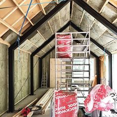 Barnhouse Cabin - It's not that pretty but this is what life looked. Steel Frame House, A Frame House, Steel House, Shed Homes, Prefab Homes, Kit Homes, Metal Barn Homes, Pole Barn Homes, Building A Cabin