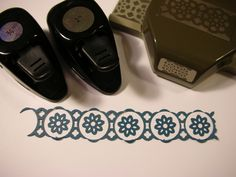several looks that you can get using your Lace Ribbon Border punch