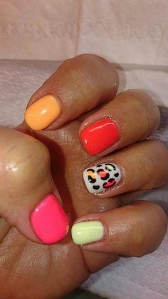 Summer nails... Leopard!