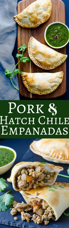 Chile Pork Empanada Hatch Chile Pork Empanadas - makes a great snack or quick and easy dinner. Make them in advance and freeze for later!Hatch Chile Pork Empanadas - makes a great snack or quick and easy dinner. Make them in advance and freeze for later! Chili Recipes, Pork Recipes, Mexican Food Recipes, Dinner Recipes, Cooking Recipes, Spanish Recipes, Recipies, Ethnic Recipes, Pork Empanadas