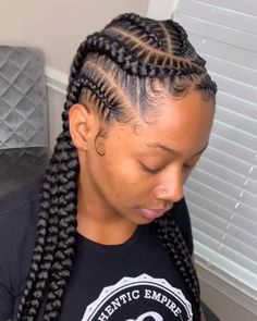 Box Braids Hairstyles, Braided Cornrow Hairstyles, Corn Row Hairstyles, 4 Braids Cornrows, Cornrows Into A Bun, Cornrows Kids, Cute Cornrows, Ghana Braids, African Hairstyles