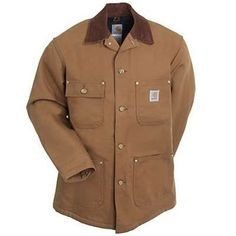 Carhartt Men s Brown BRN Blanket Lined Duck Chore Coat design, have a  reputation for comfort and durability unmatched the world over. 369fda55d1