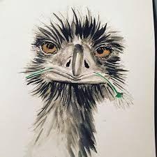 """Résultat de recherche d'images pour """"paint an ostrich"""""""