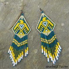 4 схемы сережек - мозаичное плетение  / 4 peyote patterns - earrings