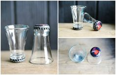 We already talked about how to cut glass bottleshere. This one is impeccable! These snapshots are made by a Swedish company and sold here. #Glass, #Kitchen, #Upcycled