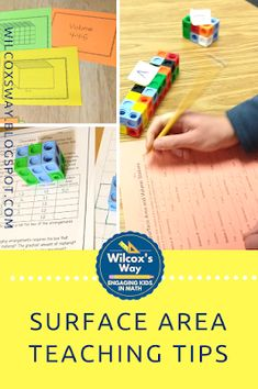 5 Expert Activities for Teaching Surface Area Middle School Classroom, Math Classroom, Classroom Activities, Maths, Classroom Ideas, Math Lab, 7th Grade Math, Math Stations, Common Core Math