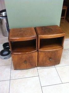 Pair Of Vintage Bedside Cabinets Retro Oak in Home, Furniture & DIY, Furniture, Bookcases, Shelving & Storage Storage Shelves, Shelving, Bedside Cabinet, 1930s, Bookcase, Retro, Cabinets, Diy, Furniture
