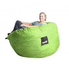 Bean Bag Chair Size: Large, Color: Lime Green - http://delanico.com/bean-bag-chairs/bean-bag-chair-size-large-color-lime-green-525977412/