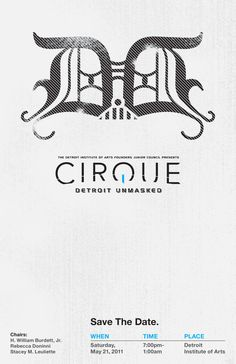 DIA | Cirque: Event Identity, Invitation Design + Public Relations